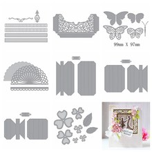 Mixed Box Frame Shadowbox Metal Cutting Dies Stencil For DIY Scrapbooking Decorative Embossing Paper Cards 2019 Newest Crafts