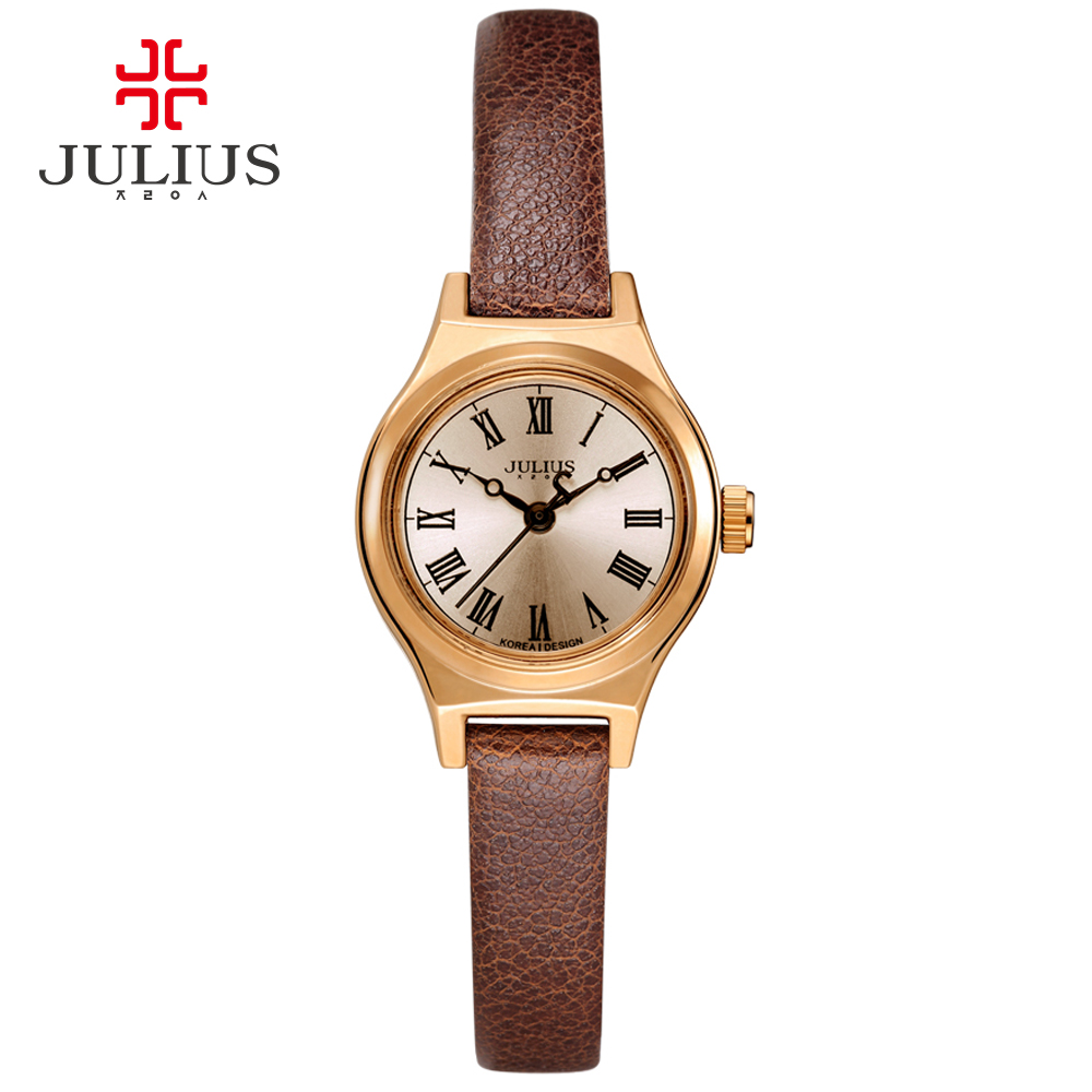 JULIUS Watch For Women JA-964 2017 New Spring Limited Edition Black Brown White Leather Luxury Watch Designer Clock Montre Femme цена и фото