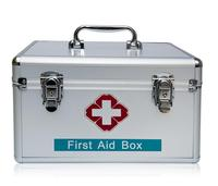 WAL20 New Free Shipping Family Multifunctional First Aid Kit Outdoor Travel Medical Aluminum Alloy Medicine Box
