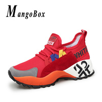Designer Summer Big Size 41 Womens Running Shoes Hidden Increase 5cm Sports Shoes Ladies White Red Black Girls Walking Sneakers