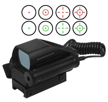 Buy online Tactical Holographic Reflex Red / Green Dot Scope 4 Reticle & Red Laser Sight Telescope Tactical Laser Gun rifle