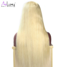 AILUXY HAIR BEAUTY Brazilian Blonde 613# Color Wigs Straight Full Lace Wig 150% density Pre-Plucked NatureHairLine Free Shipping(China)