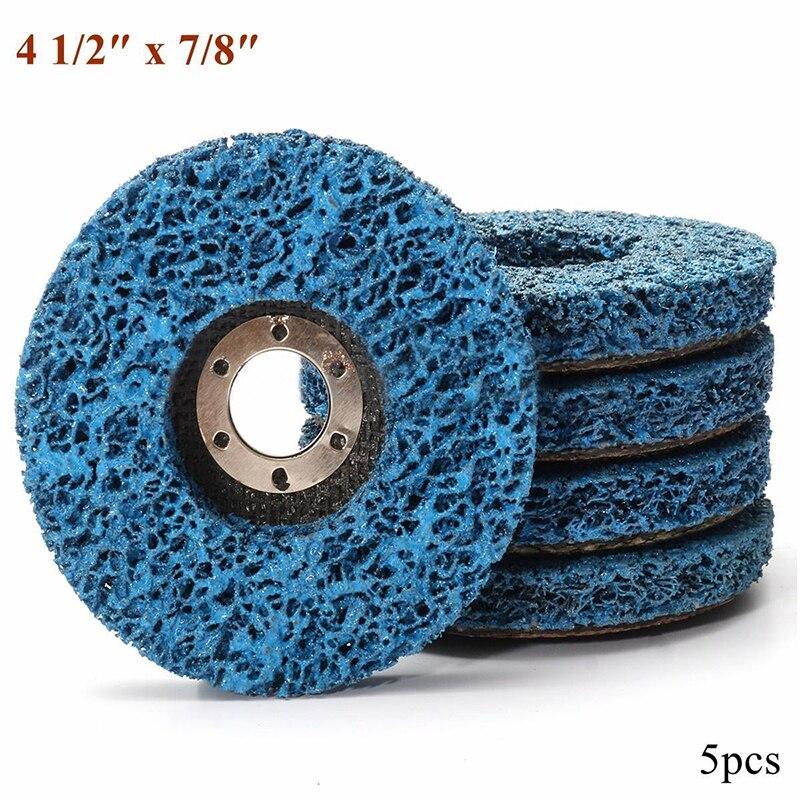 5 шт. 110 мм синий Краски ржавчины шлифовальная диски поли Газа Колеса удаления ржавчины чистке угловая шлифовальная диски для измельчения ин...