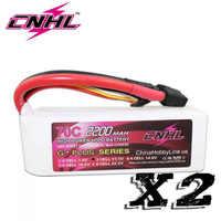 2 個 CNHL グラム + プラス 2200 mAh 3 S 11.1 V 70C リポバッテリー