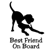12cm*15cm Best Friend Dog Baby On Board Vinyl Sticker Car Decals Art Painting Stickers Decor