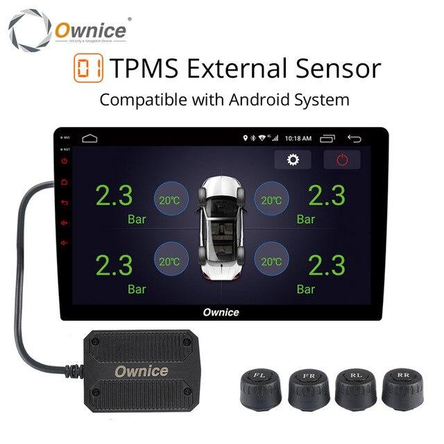 Ownice 車の自動車タイヤ空気圧 USB TPMS タイヤ空気圧警報セキュリティ外部/内部ための 4 つの dvd プレーヤーナビゲーション