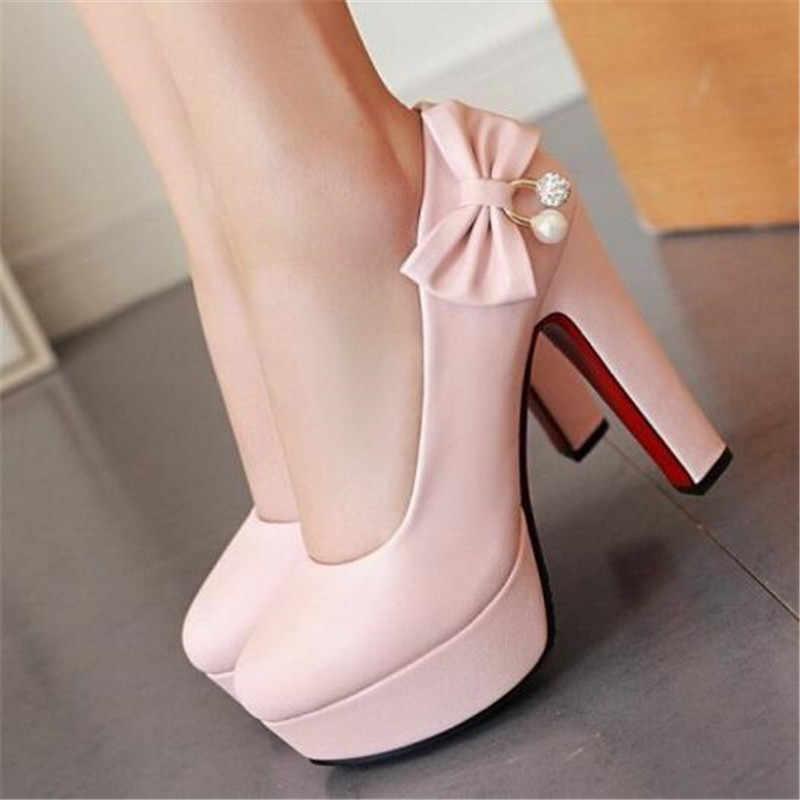 Aangepaste groot formaat enkele schoenen 44 45 46 47 yards grote maat hoge hakken met hoge hakken schoenen met vlinder knoop diamant