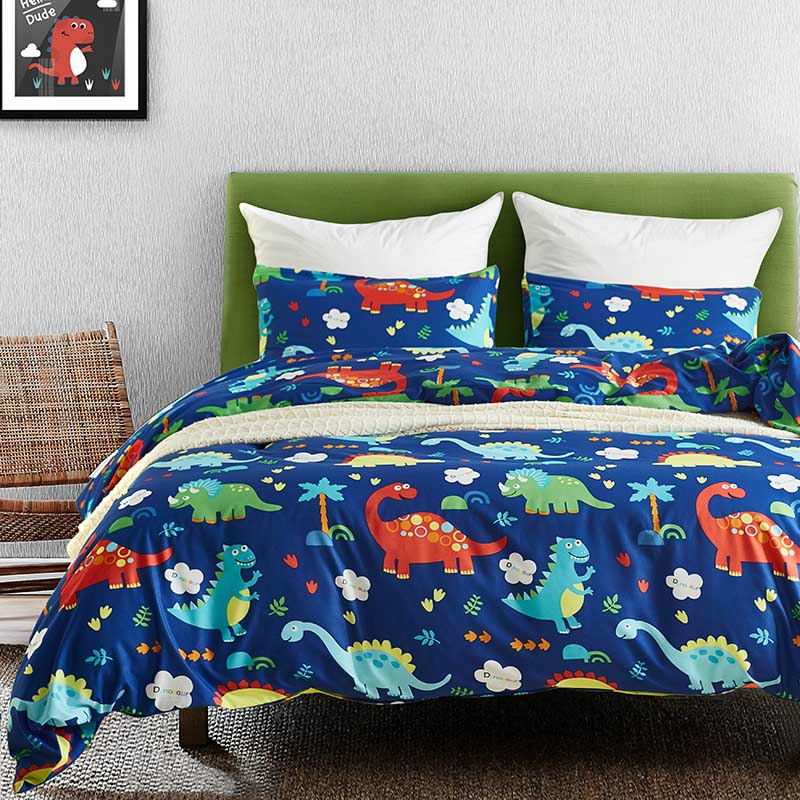 Dinosaur Kids Single Bedding Set Qulit Cover Pillowcases Solid Home Textile cama Bed Set Queen Sets King Size Bedding Sets Dinosaur Kids Single Bedding Set Qulit Cover Pillowcases Solid Home Textile cama Bed Set Queen Sets King Size Bedding Sets