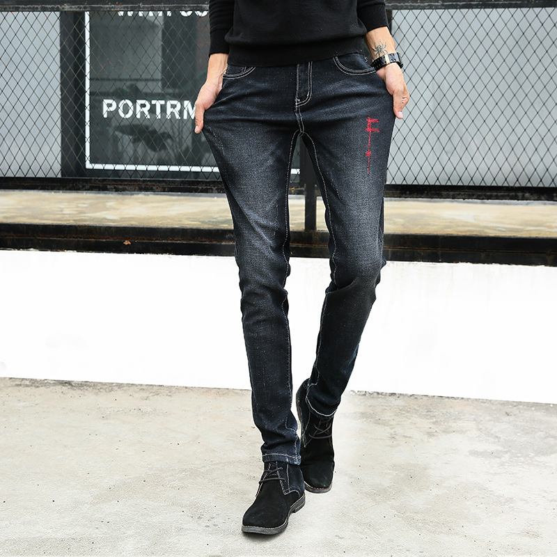 XMY3DWX 2017 New Fashion Men Casual Stretch Skinny Jeans Trousers Tight Pants Solid Colors/male premium brand jeans 27-36