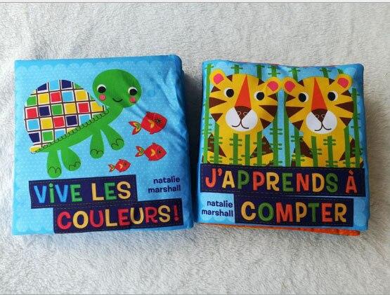 Cartea de pânză franceză cu inel de hârtie Tiger și ocean de tip - Învățare și educație
