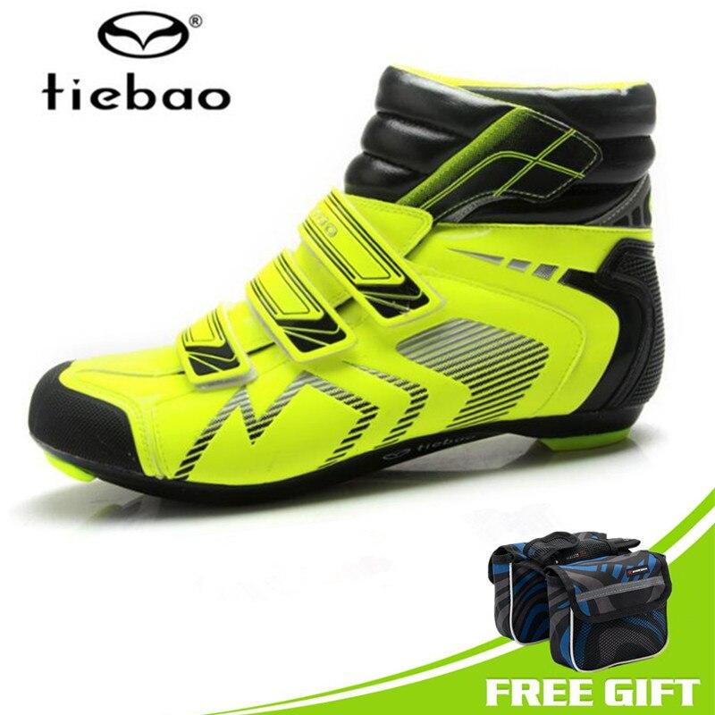 grandes ofertas en moda comprar seleccione para el más nuevo € 47.11 41% de DESCUENTO|Tiebao hombres zapatos de Ciclismo de carretera de  tobillo alto botas de bicicleta de invierno botas de bicicleta atléticas ...