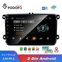 "EU คลังสินค้า Podofo 8 ""2din รถ Android วิทยุ GPS Navi Autoradio USB สำหรับ VW EOS Golf 5 6 touran แคดดี้ Jetta Tiguan Canbus"