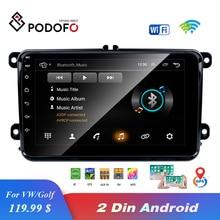 "Entrepôt ue Podofo 8 ""2din voiture Android Radio GPS Navi Autoradio USB lecteur pour VW EOS Golf 5 6 Touran Caddy Jetta Tiguan Canbus"