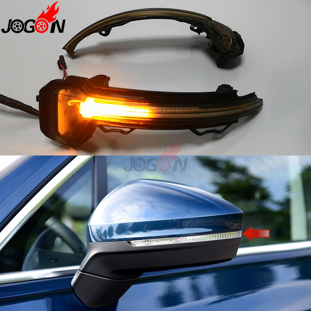 For VW Volkswagen Tiguan MK2 2017+ Touareg MK3 (EU) 2019 LED Dynamic Turn Signal Light Side Rearview Mirror Indicator Sequential