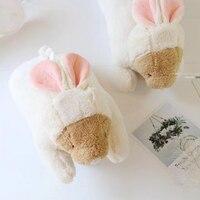 Cute Creative Plush Rabbit Toys Paper Towel Box Toy Stuffed Box Cartoon Bear Soft Dolls Napkin