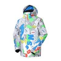 2018 New High Quality Brand Winter Ski Suit Mens Snow Snowboard Jacket Pants Waterproof Windproof Thermal