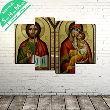 4 Piece Juses and Virgin Mary wall art decor poster vintage decorative pictures canvas prints painting