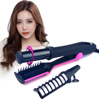 Professional Hair Straightening Curling Iron 1 Way Rotating Iron Curler No Damage Hair Straightener 2 In