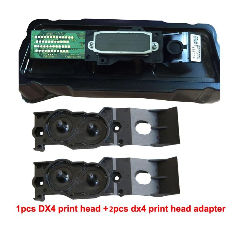 Для Epson Mutoh Mimaki Roland DX4 эко растворителя печатающая головка + два адаптера на высокое качество печатающая головка