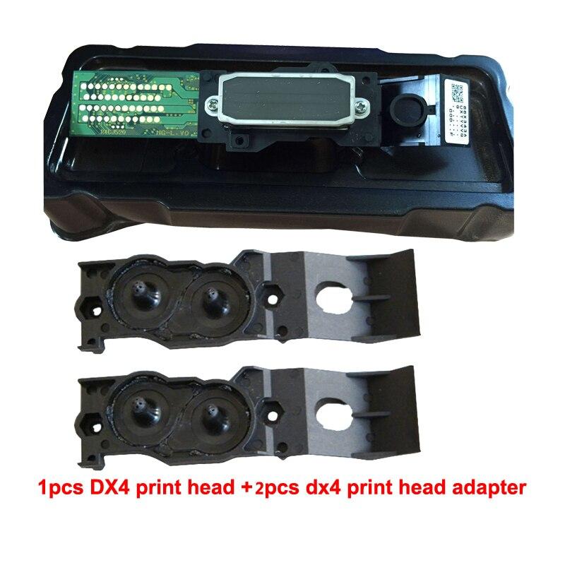 Pour Epson Mutoh Mimaki Roland DX4 tête d'impression à solvant Eco + deux adaptateur gratuits sur tête d'impression de haute qualité