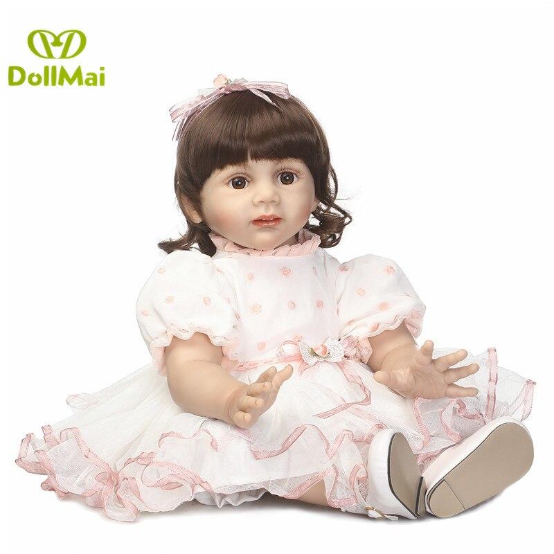 60cm Silicone Reborn Baby Doll Toys Like Real 24inch vinyl Princess Reborn Fridolin toddler girl bebes reborn bonecas60cm Silicone Reborn Baby Doll Toys Like Real 24inch vinyl Princess Reborn Fridolin toddler girl bebes reborn bonecas
