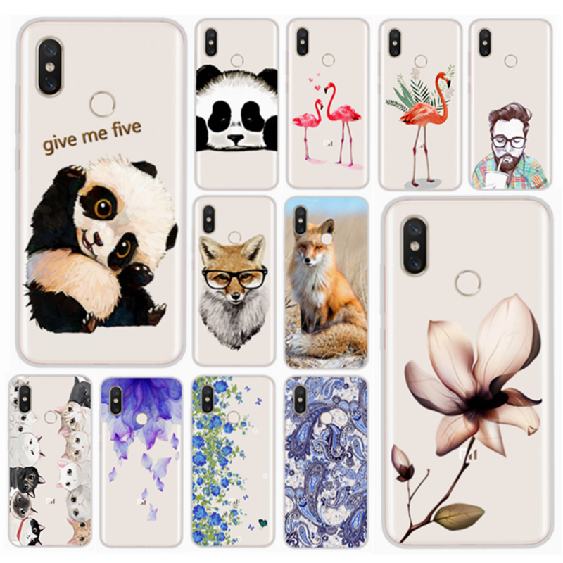 Silicon Case For <font><b>Xiaomi</b></font> Mi 8 <font><b>6gb</b></font> 64gb <font><b>128gb</b></font> Transparent TPU Printing Back Cover For <font><b>Xiaomi</b></font> <font><b>mi8</b></font> Global 6.21