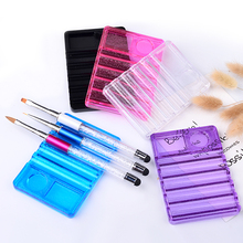 Crystal Nail Brush Pen Holder 1 pcs Stand 5 Grids Pro UV Gel Display Rest DIY Beauty Craft Manicure Tools Equipment