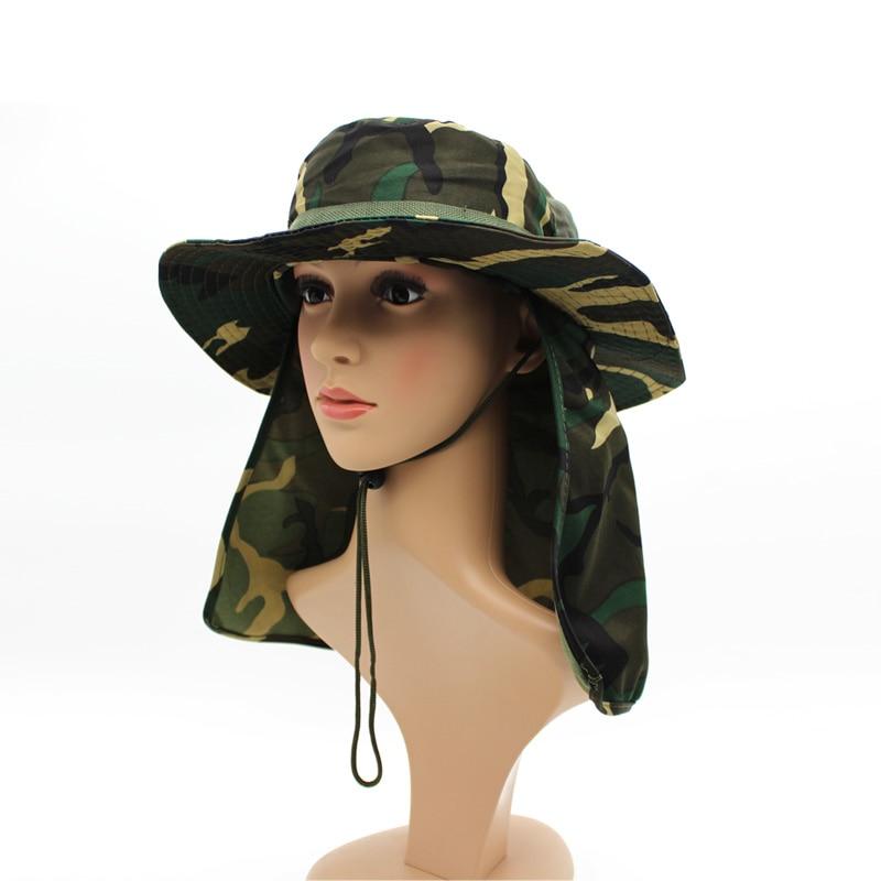 US $7 2 10% OFF|Aliexpress com : Buy Wholesale Military Camouflage Bucket  Hats Fishing Fisherman Hunting Men Adult Safari Sun Protection Hunter  jungle