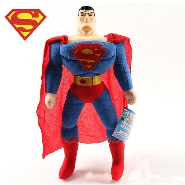 1 Pc 25 cm Brinquedos Dos Desenhos Animados de Super-heróis Da Liga Da Justiça SuperMan Collectible Macia Pelúcia Boneca Nova Chegada Filme Figura Presente