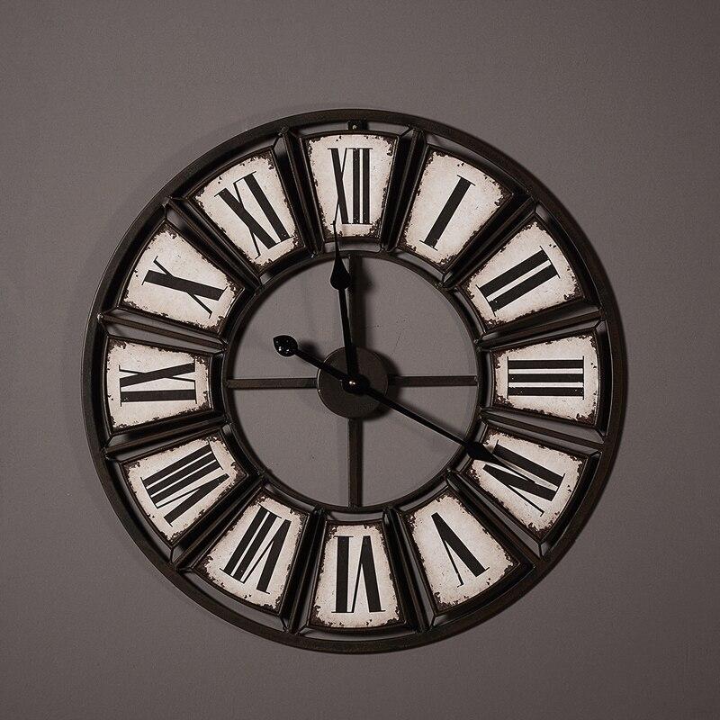 っIndustrial age style hollow iron art clocks luxury decoration ...