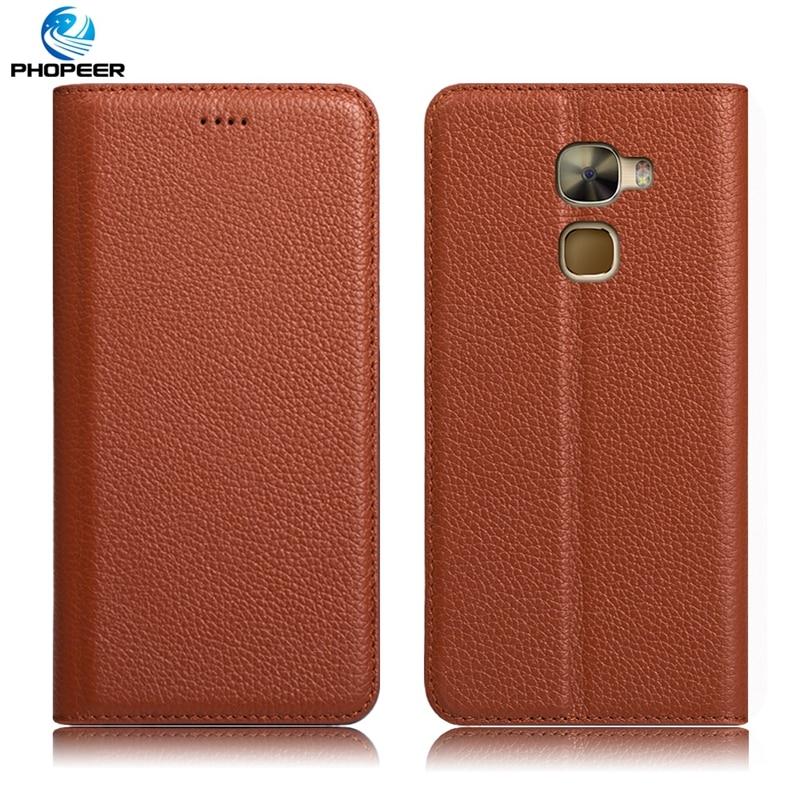 Original PHOPEER Luxury Retro Genuine Leather Case For Letv Le Pro 3 LeEco Le Pro3 Phone Filp Cover Case For LeEco Le Pro3 X720