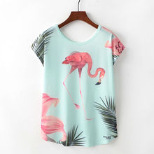 Women Flamingo Tshirt Harajuku Summer Funny Printed T-Shirt Femme Camisetas Mujer Graceful Elegant Flamingo shirt Women