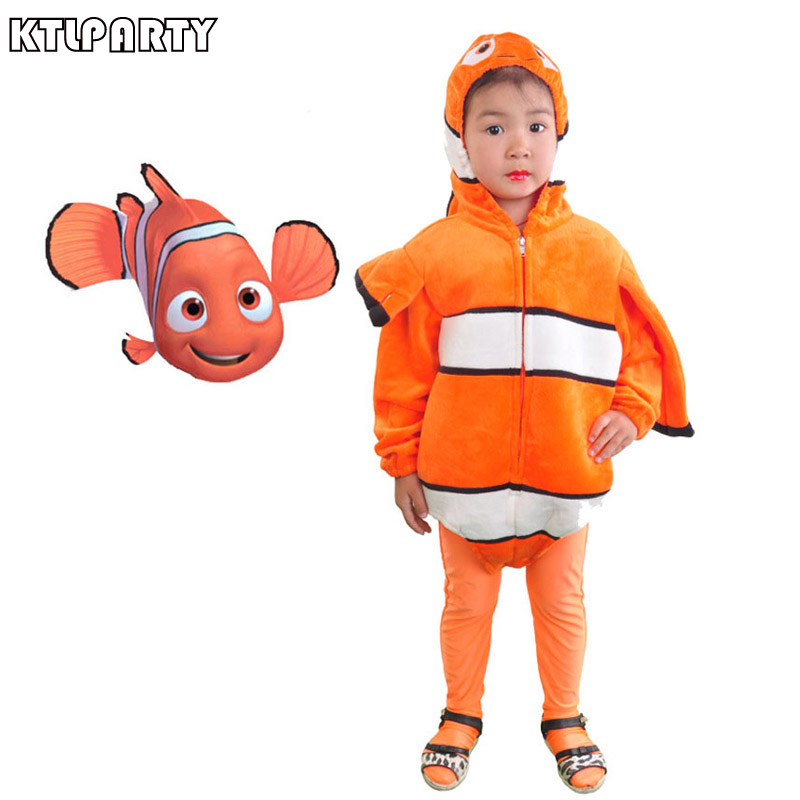 KTLPARTY Finding Nemo Costume Toddlers Fancy Clownfish Baby Romper pants  Cute Nemo Outfit Sea Animal Mascot - Popular Finding Nemo Costumes-Buy Cheap Finding Nemo Costumes Lots