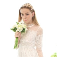 Original HuoMei Elegant Bridal Tiara Crown Gold Color Wedding Hair Jewelry European Design Headpiece Accessories For