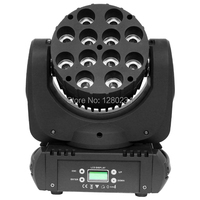 Wholease Online 12pcs 10w RGBW 4 IN 1 Led Moving Head Wash Beam Light