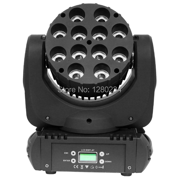 2pcs/lot dj light online wholease 12pcs*10w RGBW 4 IN 1 led moving head wash beam stage light dmx512 lighting effect for bar