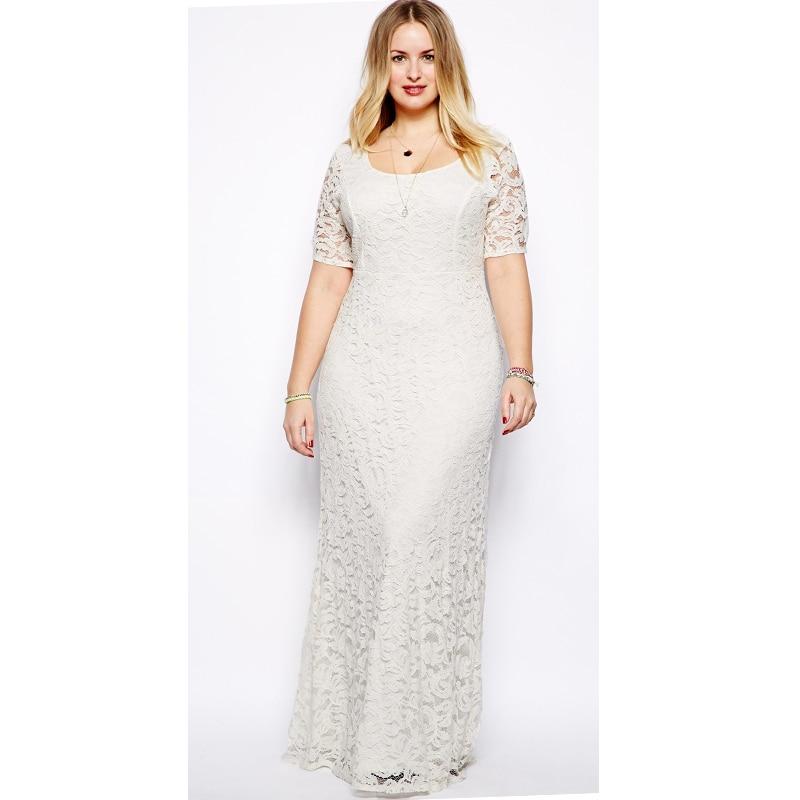 edef7ec9d9 Plus Size 2XL 7XL Women Chiffon Long Dress Ladies Vintage Max ...
