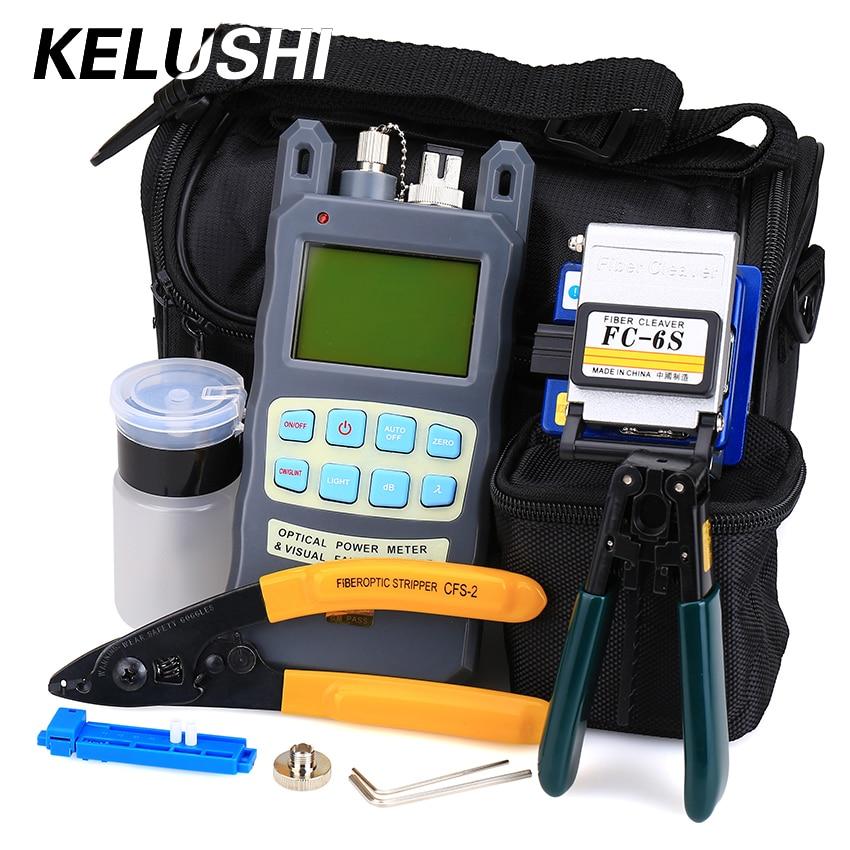 KELUSHI 9 db / készlet FTTH szerszámkészlet FC-6S - Kommunikációs berendezések