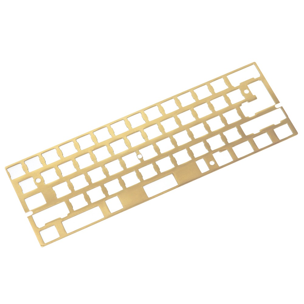 Brass 60 Plate Standard Plate A Plate B Support iso layout for DIY 60 Mechanical Keyboard