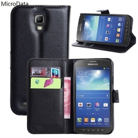 MicroData Luxury PU Leather Flip Case For Samsung Galaxy S4 Active i9295 Wallet Stand Leather Case Cover On S4 Active i9295