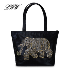 2016 Fashion Casual Cartoon Printing Designer Handbags High Quality Versatile Women Shoulder Bags Character Elephant Women Bag