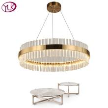 Youlaike Современные хрустальные люстры для Гостиная золото светодиодный люстры де Cristal украшения дома приспособления для подвесных светильников