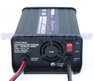 Image 4 - FOXSUR wholesale original 12V 10A 7 stage smart Lead Acid Battery Charger Car battery charger  Input voltage: 180 260V AC, 50Hz