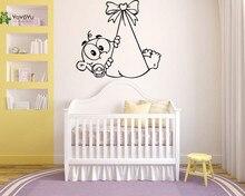 YOYOYU Vinyl Wall Decal Cute Child Cartoon Newborn Baby Bedroom Removable Home Papel De Parede Para Quarto Stickers FD491 цена и фото