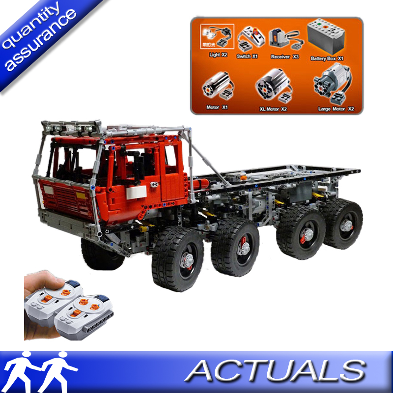 Compatible With Lego Technic Lepin 23012 Tatra Moc 813 Tow Truck Building Blocks Electric Motor Battery Model Bricks In From Toys