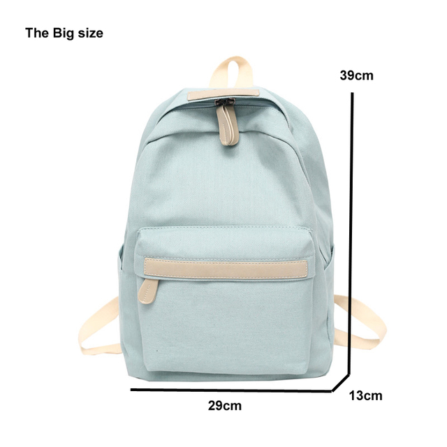 2019 Women Canvas Backpacks Ladies Shoulder School Bag Backpack Rucksack for Girls Travel Fashion Bag Bolsas Mochilas Sac A Dos 4