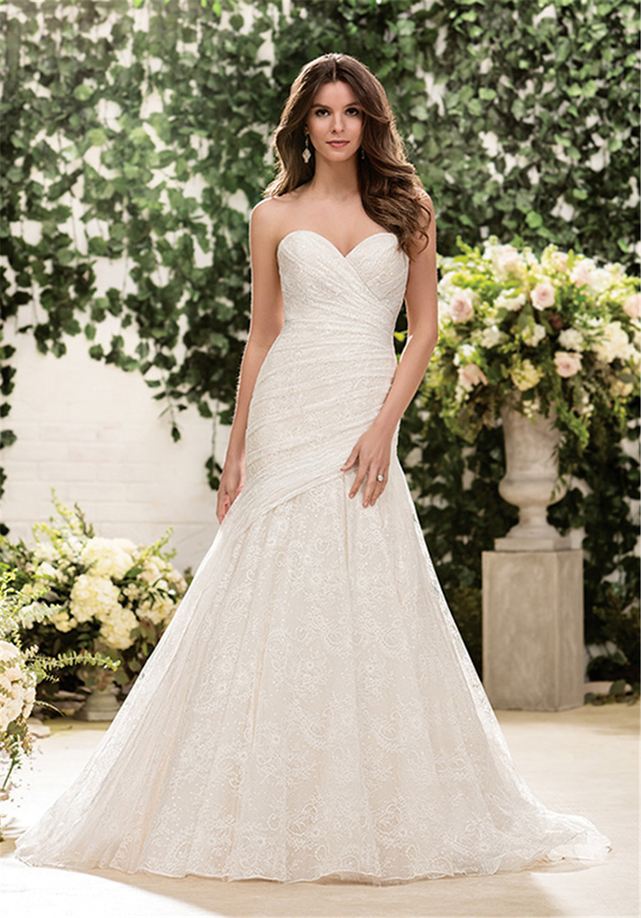 chantilly lace wedding dress BLISS Monique Lhuillier Draped Tulle Chantilly Lace Trumpet Dress In Stores Only Nordstrom