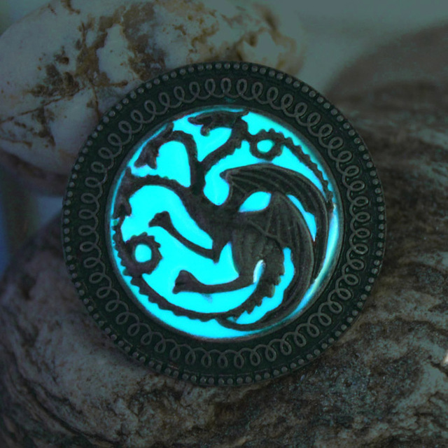 Game Of Thrones Luminous Wolf Brooches