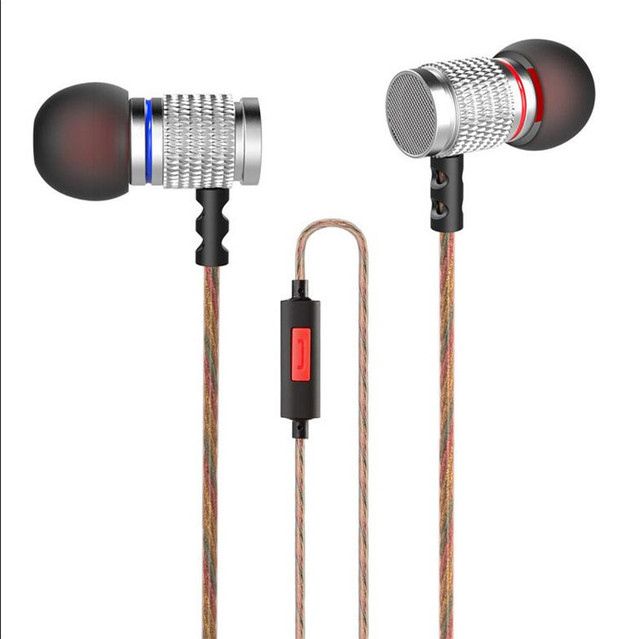 KZ EDR2 No Ouvido de Metal Fones de Ouvido Graves Profundos Auriculares Com Cancelamento de Ruído fones de Ouvido Originais KZ EDR2 Fone de Ouvido Intra-auriculares Com Microfone