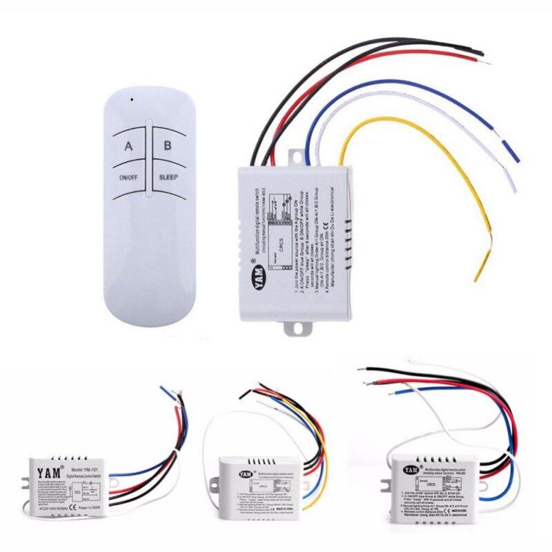 1/2/3 voies sans fil ON/OFF lampe télécommande interrupteur récepteur émetteur 220 V